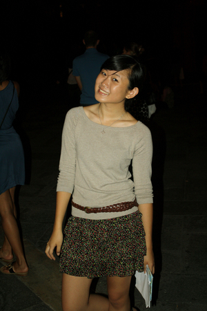 Zara sweater - Forever 21 skirt - Italy belt - vatican museum necklace
