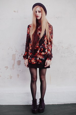 floral VJ Style blouse