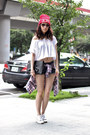 Red-net-shirt-off-white-zara-top