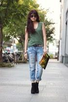 shirt - Prada bag