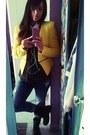 Blue-zara-jeans-yellow-zara-blazer-black-bershka-shirt