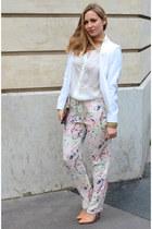 SANDRO blazer - H&M bag - best mountain pants - Mango necklace - Zara heels