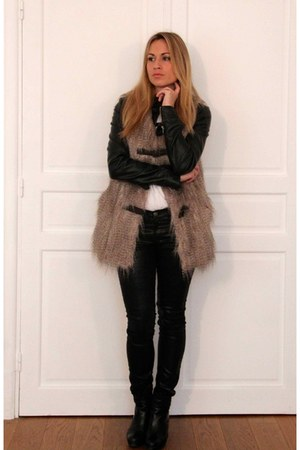 Minelli boots - asoscom jeans - Pimkie jacket - jennyfer cardigan