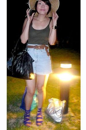 Zara top - Excellence in Fashion belt - moms closet shorts - Zara shoes