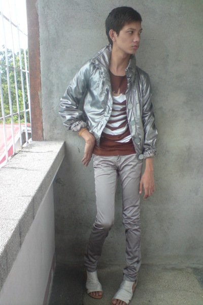 tulipica jacket - DIY shirt - F&H pants - People are People shoes