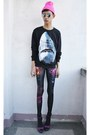 Black-punk-x-pretty-sweatshirt-bubble-gum-rebel-gear-accessories