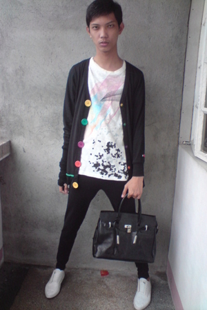 thrifted jacket - Penshoppe shirt - thrifted purse - leggings - WADE shoes