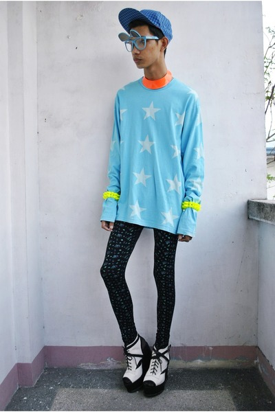 Gold Dot wedges - H&M Trend hat - junya watanabe comme de garcons sweater