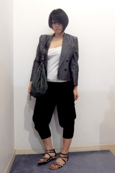 vintage blazer - from Thailand top - p&amp;co pants - Vincci shoes - mimco bag acces
