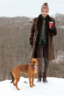 Light-brown-shearling-lined-jcrew-boots-brown-fur-vintage-coat