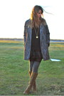Gray-cocoon-express-coat-green-plaid-tj-maxx-skirt