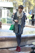 maroon ankle Steve Madden boots - black cocoon Express coat