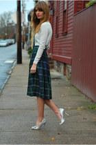 forest green midi skirt asos skirt - heather gray cropped asos sweater