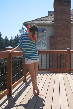 striped American Dream top - zenana outfitters shirt - vintage glasses