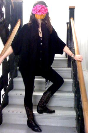 madewell cardigan - madewell leggings - vintage boots