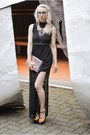 Black-lace-urban-outfitters-dress-light-pink-forever-21-bag