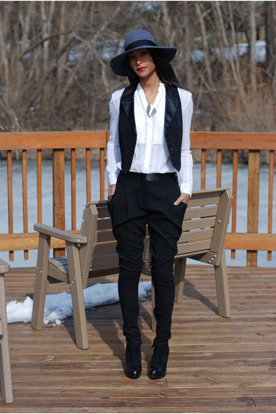 black BCBG pants - black Forever 21 vest