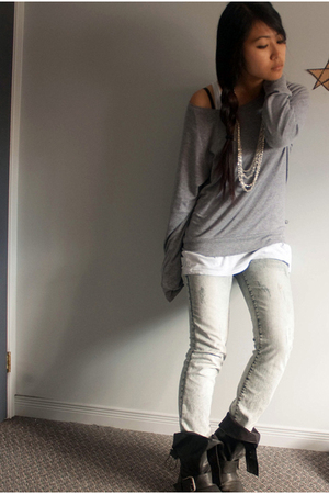 TNA top - jeans - f21 accessories