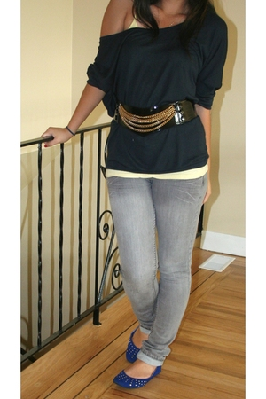 American Apparel top - H&M belt - roberto vianni shoes