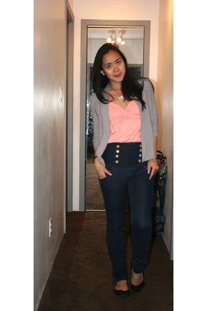 orange People are People top - blue Zara jeans - black roberto vianni shoes - gr