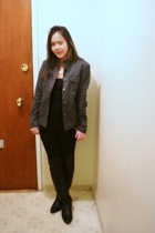 Urban Outfitters jacket - H&M top - Urban Planet jeans - vintage boots