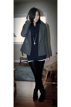 Zara sweater - H&M coat - Aldo boots