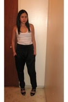 American Apparel top - Zara pants - payless shoes