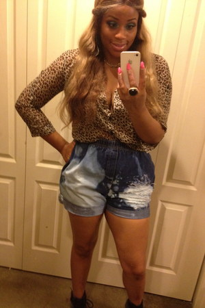 blouse - shorts - ring