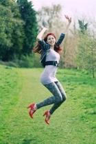 H&M sweater - H&M top - Topshop leggings - Dotty Ps shoes