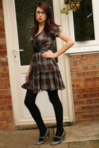 Claires Accessories glasses - River Island dress - my mums tights - Miss Selfrid