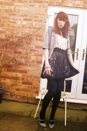 Miss Selfridge jacket - Topshop shirt - brick lane lace skirt - Miss Selfridge s