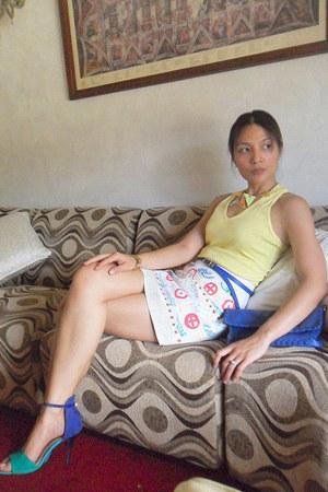 skirt - DIY skirt - Guess top