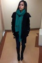 green H&M scarf