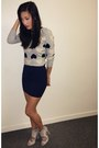 Heather-gray-hearts-j-crew-sweater-navy-mini-skirt-h-m-skirt