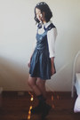 H-m-boots-h-m-divided-dress-dangerfield-socks-chicabooti-blouse