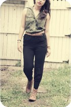 Forever 21 shirt - Wetseal boots - Forever 21 pants