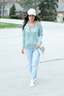 Light-blue-boyfriend-forever-21-jeans-aquamarine-metallic-forever-21-sweater