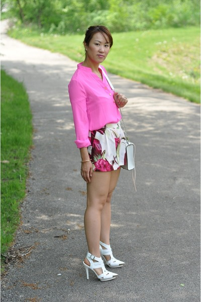 Forever 21 top - Rebecca Minkoff bag - H&M shorts - Jeffrey Campbell heels