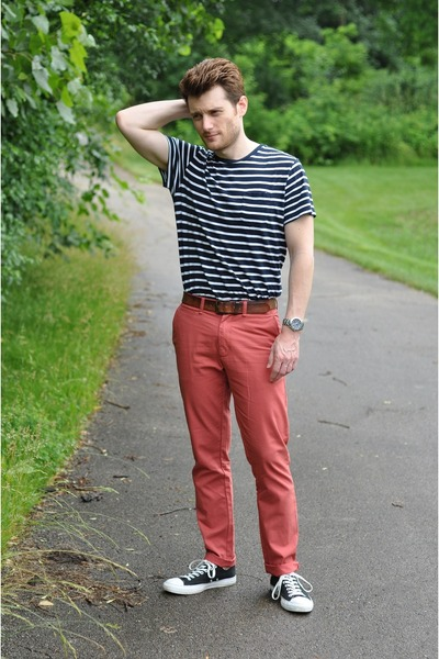 navy Old Navy shirt - coral slim fit Old Navy pants