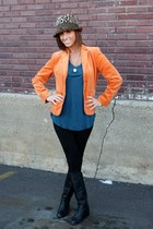 Jones New York Signature blazer - vintage boots - Mossimo top