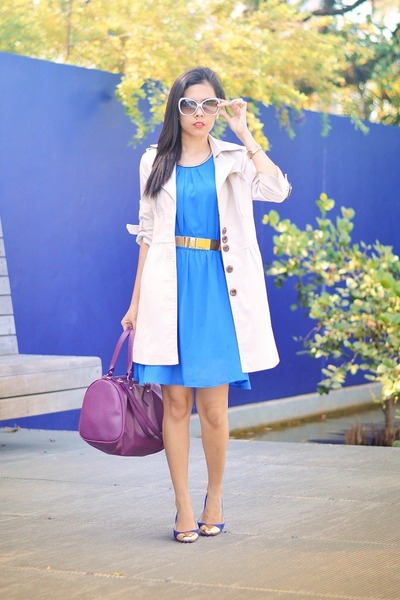 blue doll shoes flat Element shoes - blue vintage dress