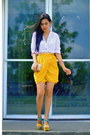 White-cotton-five-company-top-yellow-vintage-skirt