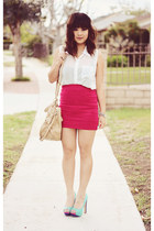Forever 21 skirt - color block MYHOTSHOES heels