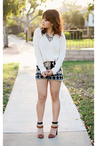 black knitted Sparkle & Fade shorts - beige knitted coincidence & chance jumper