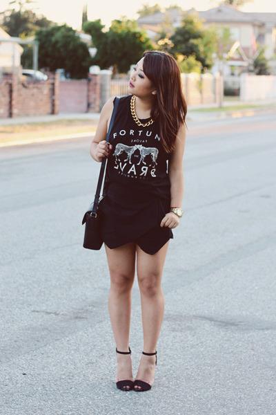 skort layered Zara shorts - Marc Jacobs bag - tank top Forever 21 t-shirt
