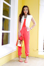 Burnt-orange-lancel-bag-salmon-suiteblanco-heels-salmon-forever-21-pants