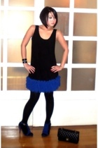 blue Renegade Folk shoes - black Salsa Trends by Arlene Sipat dress