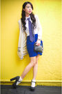 Beige-zara-cardigan-blue-zara-tie-black-forever-21-shoes-blue-zara-skirt-