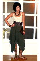 Topshop top - Marithe Francois Girbaud skirt - Cintura belt - Valentino purse -
