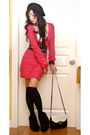 Pink-zara-sweater-white-topshop-top-black-marks-and-spencer-socks-black-to